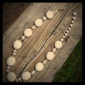 Jewelry - Milk Glass Necklace Vintage
